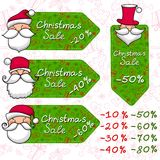 Christmas sale and Santa Claus Royalty Free Stock Images