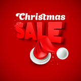 Christmas Sale with Santa hat. Vector illustration. Christmas Santa hat. Vector illustration EPS 10 Royalty Free Stock Photography