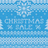 Christmas Sale: Scandinavian style seamless knitted pattern Royalty Free Stock Images
