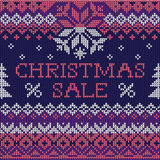Christmas Sale: Scandinavian style seamless knitted pattern Stock Image