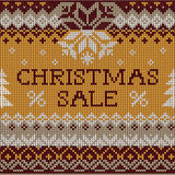 Christmas Sale: Scandinavian style seamless knitted pattern Stock Photo