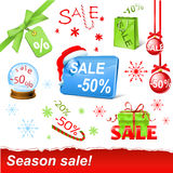 Christmas sale set. Vector christmas sale set -50 royalty free illustration