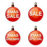 Christmas sale. Set of balls.  Vector eps10 Royalty Free Stock Photos