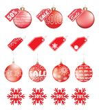 Christmas sale. set in vector Royalty Free Stock Photo