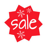 Christmas Sale Shaped Icon on White Background Royalty Free Stock Photos