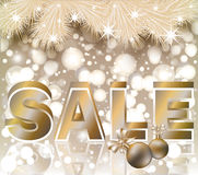Christmas sale shop card Royalty Free Stock Photos