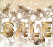Christmas sale shop card Royalty Free Stock Photos