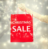 Christmas Sale shopping bag Stock Photo