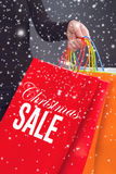 Christmas Sale Shopping Bag Royalty Free Stock Images