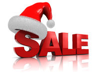 Christmas sale sign Royalty Free Stock Images