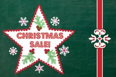 Chalkboard Christmas Sale Sign Stock Image