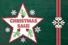 Chalkboard Christmas Sale Sign stock image