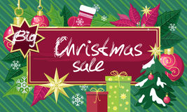 Christmas Sale Sign Design Concept Stock Images