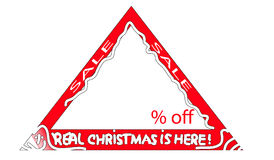 Christmas Sale sign Royalty Free Stock Image