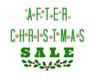 After Christmas Sale Sign stock photo