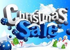 Christmas sale snowy ice stock illustration