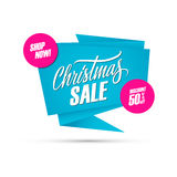 Christmas Sale. Special offer banner, discount up to 50% off. Shop now! Stock Images