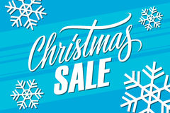 Christmas Sale. Special offer banner with handwritten element. Royalty Free Stock Image