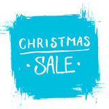 Christmas Sale. Special offer banner with handwritten text design and brush stroke. Background for business, promotion and advertising. Vector illustration Royalty Free Stock Image