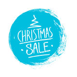 Christmas Sale. Special offer banner with handwritten text design and circle brush stroke. Background for business, promotion and advertising. Vector Royalty Free Stock Photography