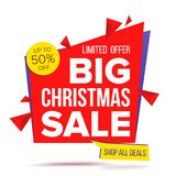 Christmas Sale Special Offer Banner Vector. Sale Label.  Illustration Royalty Free Stock Image
