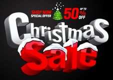 Christmas sale special offer royalty free illustration
