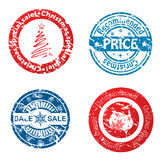 Christmas sale stamps Stock Photos