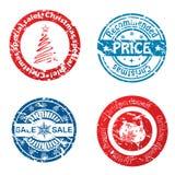 Christmas sale stamps Stock Photos