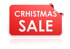Christmas sale sticker Royalty Free Stock Images
