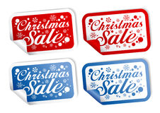 Christmas Sale stickers Royalty Free Stock Images