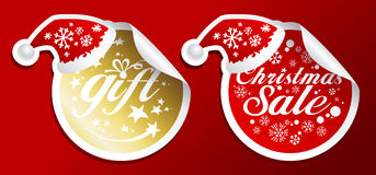 Christmas sale stickers. Royalty Free Stock Images