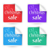 Christmas sale stickers Stock Images