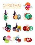 Christmas sale stickers Stock Photo