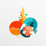Christmas sale stickers Royalty Free Stock Image