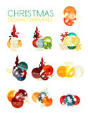 Christmas sale stickers Royalty Free Stock Photography