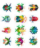 Christmas sale stickers and labels. Paper infographic template with snowflake Royalty Free Stock Photos