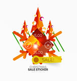 Christmas sale stickers and labels Stock Photography