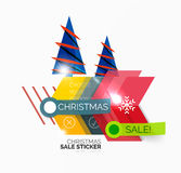 Christmas sale stickers and labels Stock Image