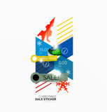 Christmas sale stickers and labels Royalty Free Stock Image