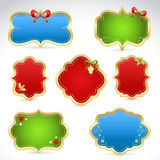 Christmas sale stickers and tags Stock Photos