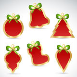 Christmas sale stickers and tags for discounts Royalty Free Stock Photos