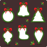Christmas sale stickers and tags for discounts Stock Images