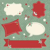 Christmas sale stickers and tags for text Stock Photography