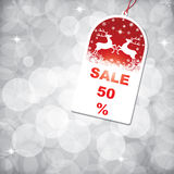 Christmas Sale Tag Royalty Free Stock Photo
