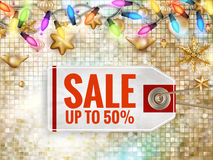 Christmas Sale tag. EPS 10 Stock Images