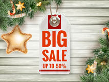 Christmas Sale tag. EPS 10 Stock Photo