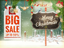 Christmas Sale tag. EPS 10 Stock Photography
