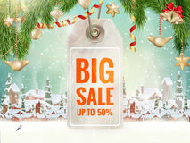 Christmas Sale tag. EPS 10 Royalty Free Stock Photography