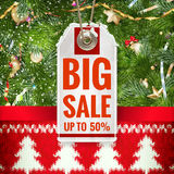 Christmas Sale tag. EPS 10 Stock Photos