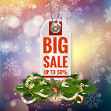 Christmas Sale tag. EPS 10 Stock Image
